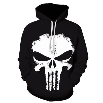 Black Punisher Pullover Hoodie