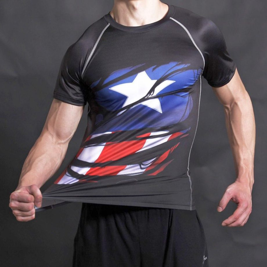 Captain America Alter Ego Dry-Fit Shirt