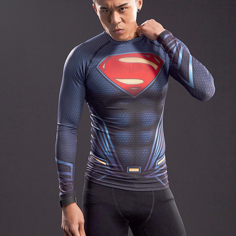 Superman Long Sleeve Compression Shirt (2017 Edition)