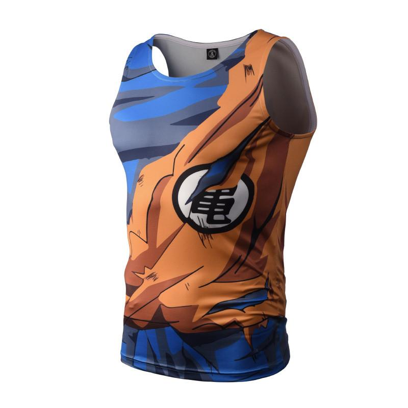 Goku Battle Torn Gi Dry-Fit Tank Top