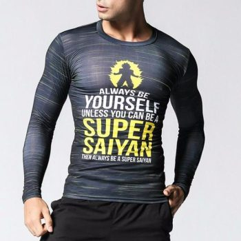 Super Saiyan Long Sleeve Compression Shirt