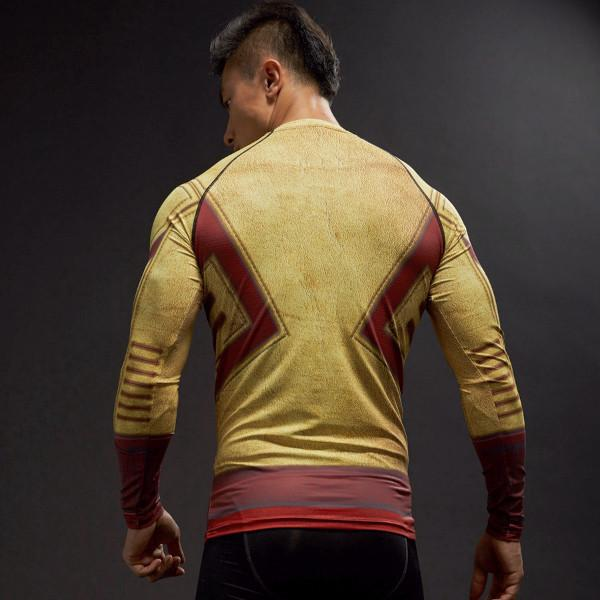 Kid Flash Long Sleeve Dry-Fit Compression Shirt