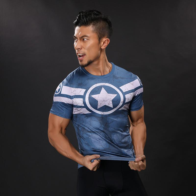 Captain America Dry-Fit Tee