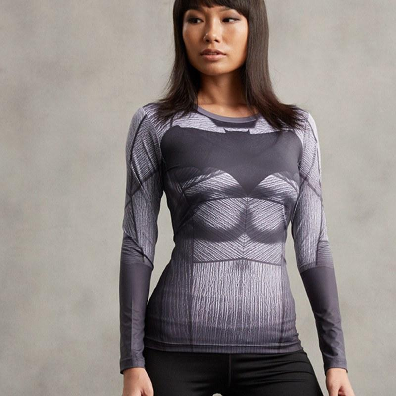Batman Women's Long Sleeve Dry-Fit Tee