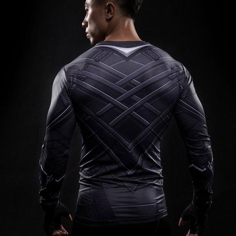 Black Panther Dry-Fit Long Sleeve Shirt