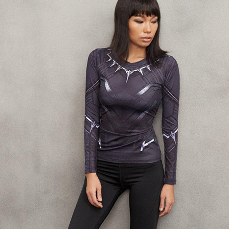 Black Panther Women's Long Sleeve Dry-Fit Shirt
