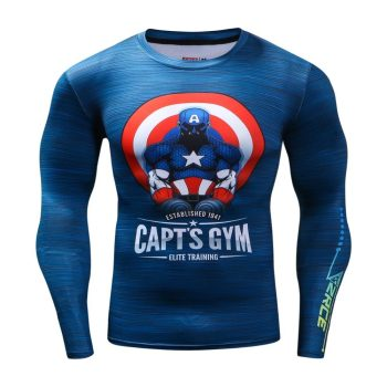 Captain America Capt's Gym Long Sleeve Dry-Fit Shirt