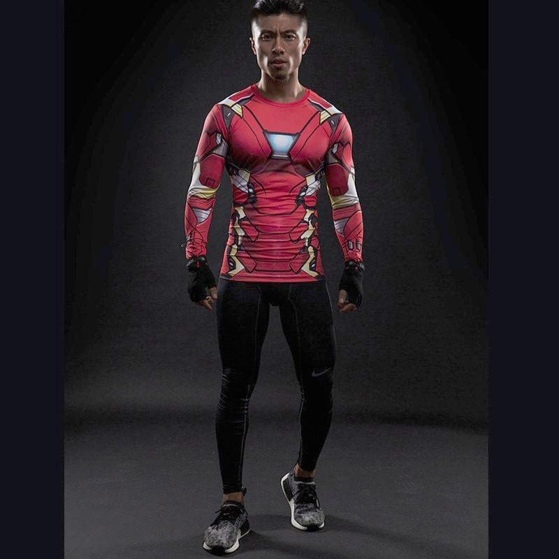 Iron Man Long Sleeve Dry-Fit Shirt