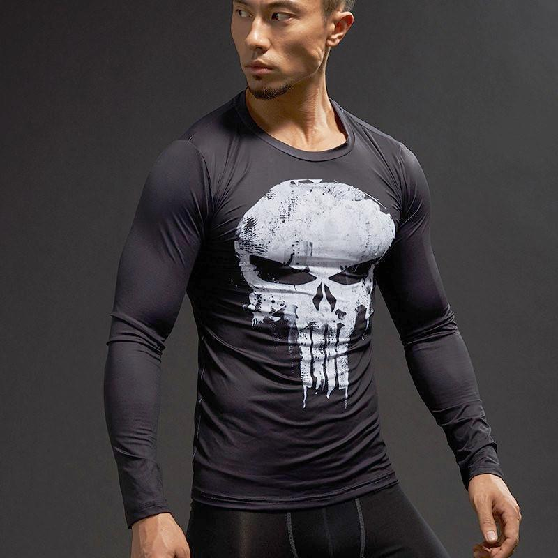 Punisher Long Sleeve Dry-Fit Shirt