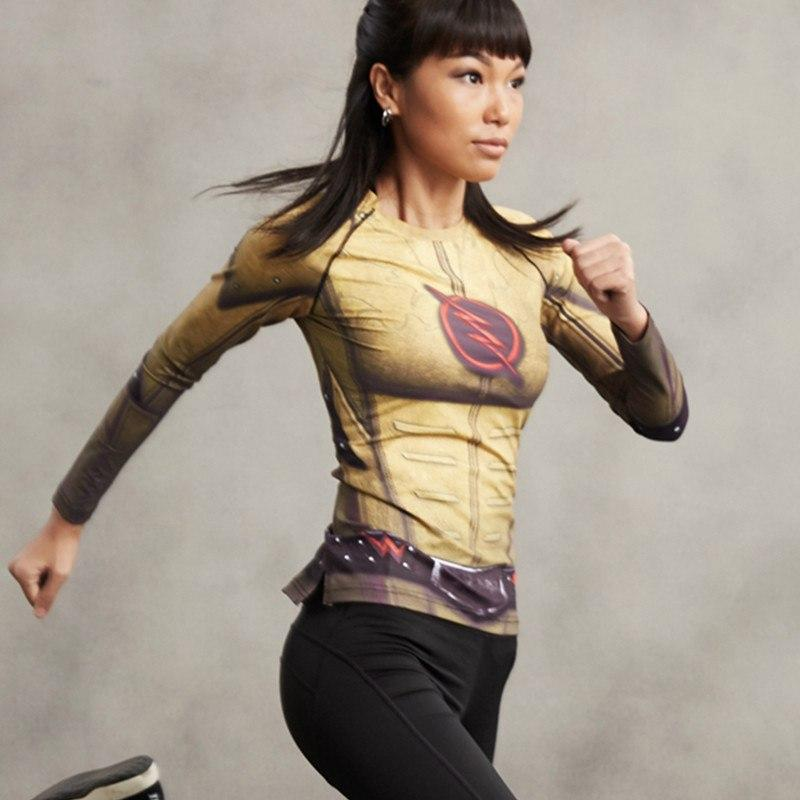 Reverse Flash Long Sleeve Women's Compression Shirt