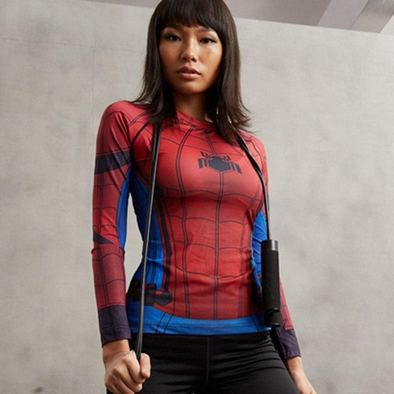 Spiderman Women's Long Sleeve Compression Tee