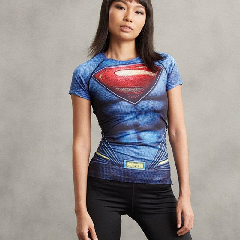 Superman Women's Compression Tee