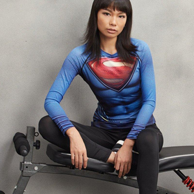 Superman Women's Long Sleeve Compression Tee