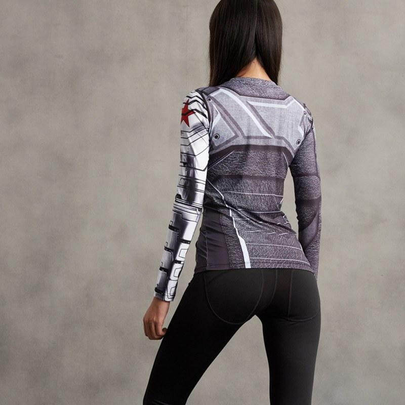 Winter Soldier Long Sleeve Women's Compression Tee