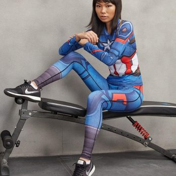 Captain America Women's Dry-Fit Leggings
